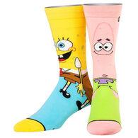 Odd Sox Unisex Sponge Bob & Patrick Crew Sock