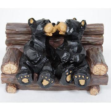 Slifka Sales Co Kissing Bears Figurine