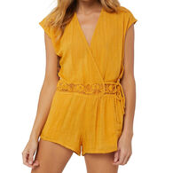 O'Neill Women's Salt Water Solids Cover-Up Romper