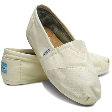 TOMS Womens Canvas Classic Slip-On Shoe