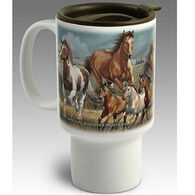 American Expedition Mustang Stoneware Travel Mug