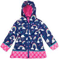 Stephen Joseph Girl's Rainbow Rain Jacket
