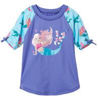 Hatley Toddler Girl's Mermaid Tales Short-Sleeve Rashguard