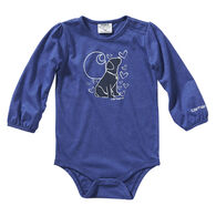 Carhartt Infant Girl's Heather Graphic Long-Sleeve Bodysuit