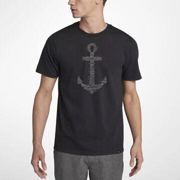 Hurley Mens Anchors Away Short-Sleeve T-Shirt