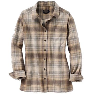 Pendleton Woolen Mills Women's Meredith Plaid Wool Long-Sleeve Shirt