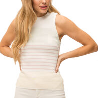 Mystree Women's Color Block Sleeveless Sweater