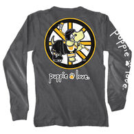 Puppie Love Women's Hockey Pup Long-Sleeve T-Shirt