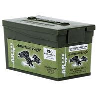 American Eagle 5.56x45mm 55 Grain FMJ BT Rifle Ammo in Mini Can (120)