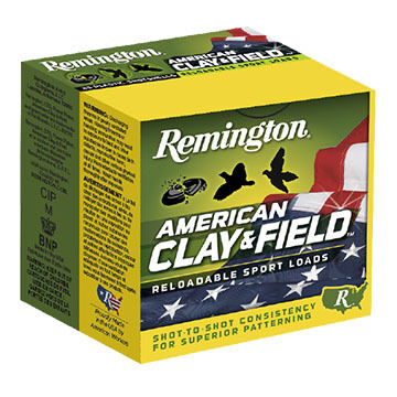 "Remington American Clay & Field 20 GA 2-3/4"" 7/8 oz. #9 Shotshell Ammo (25)"