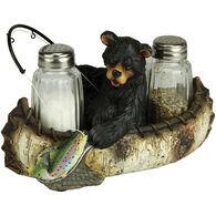 Rivers Edge Fishing Bear Salt & Pepper Shaker Set, 2-Piece