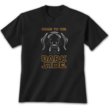 Earth Sun Moon Trading Mens Come To The Bark Side Short-Sleeve T-Shirt