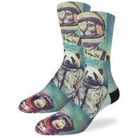 Good Luck Sock Men's Animal Astronauts Crew Sock