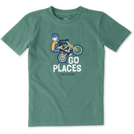 Life is Good Boys' Go Places Bike Crusher Short-Sleeve T-Shirt