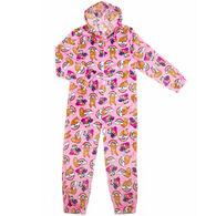 Candy Pink Girl's Sloth Pajama Onesie