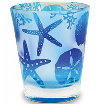 Cape Shore Beach Batik Shells Shot Glass