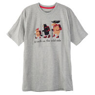 Hatley Little Blue House Men's A Walk On The Wild Side Short-Sleeve Sleep T-Shirt