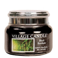 Village Candle Small Glass Jar Candle - Black Bamboo