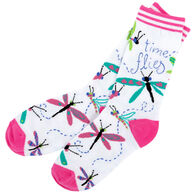 Hatley Women's Time Flies Crew Sock