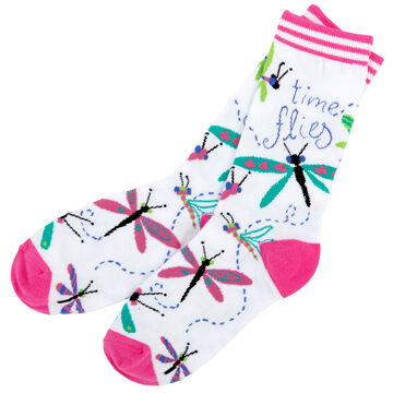 Hatley Womens Time Flies Crew Sock