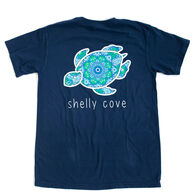 Shelly Cove Men's & Women's Bohemian Jewel Peacock Short-Sleeve T-Shirt
