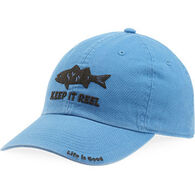 Life is Good Men's Keep It Reel Fish Chill Cap - Marina Blue