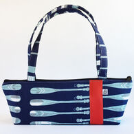 Little Man Women's Nautical Oars Print Tomboy Zippered Fabric Handbag