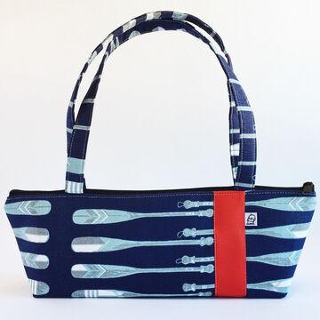 Little Man Womens Nautical Oars Print Tomboy Zippered Fabric Handbag