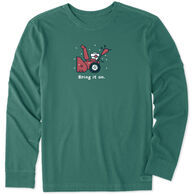 Life is Good Men's Bring It On Snow Blower Vintage Crusher Long-Sleeve T-Shirt