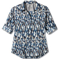 Royal Robbins Women's Expedition Dry Stretch Print 3/4-Sleeve Shirt