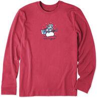 Life is Good Men's Jammin' Snowman Vintage Crusher Long-Sleeve T-Shirt
