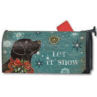 MailWraps Let It Snow Lab Mailbox Cover