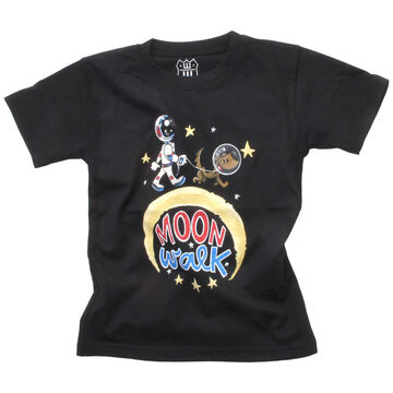 Wes And Willy Boys Moon Walk Short-Sleeve T-Shirt