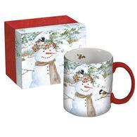 Lang Chickadee Snowman Ceramic Coffee Mug