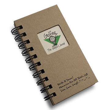 """Journals Unlimited """"Write it Down!"""" Mini Size Golfing Journal"""