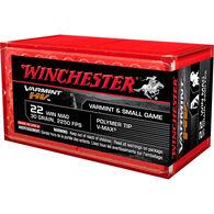 Winchester Varmint HV 22 Winchester 30 Grain Polymer Tip V-Max Rimfire Ammo (50)