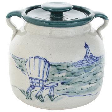 Great Bay Pottery Handmade Ceramic Large Bean Pot - 3qt.