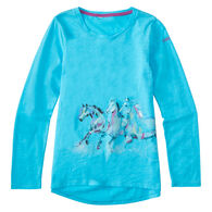 Carhartt Girls' Wrap Horse Long-Sleeve T-Shirt