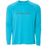 Grundens Men's Solstrale Lightweight Crew-Neck Long-Sleeve Sun Shirt