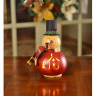 Meadowbrooke Gourds Philip Small Lit Snowman Gourd