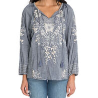Johnny Was Women's Oleander Marrakesh Long-Sleeve Top