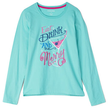 Hatley Little Blue House Womens Drink And Be Merry Sleep Shirt