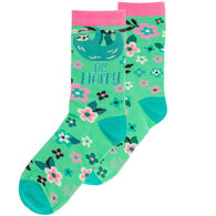 Karma Women's Be Happy Sloth Crew Sock