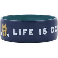 Life is Good Ceramic Rocket 38 oz. Dog Bowl