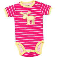 Lazy One Infant Girls' Stripe Moose Creeper