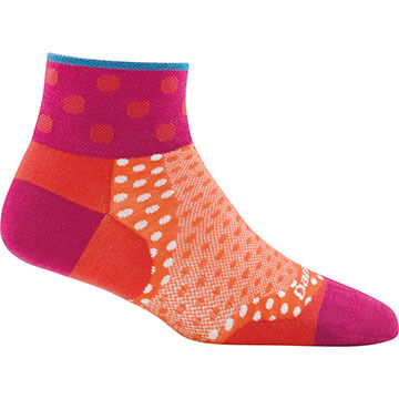 Darn Tough Vermont Womens Dot 1/4 Ultra Light Sock