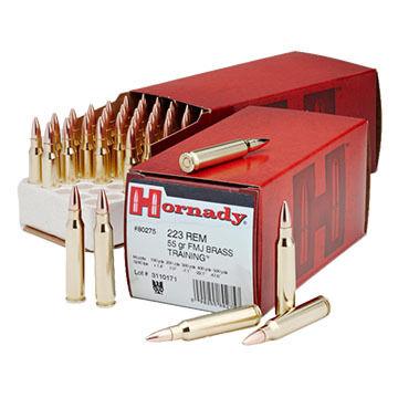 Hornady Custom 223 Remington 55 Grain FMJ BT Rifle Ammo (50)