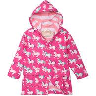 Hatley Toddler Girl's Mystical Unicorns Color Changing Rain Jacket