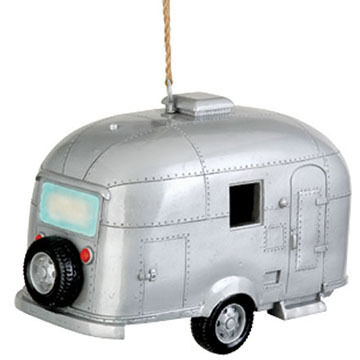 Red Carpet Studios Silver Camper Birdie In The Woods Birdhouse