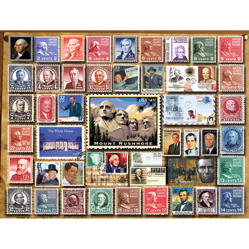 White Mountain Jigsaw Puzzle - Presidential Stamps